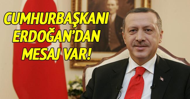 Cumhurbaşkanı Erdoğan'dan kandil mesajı!