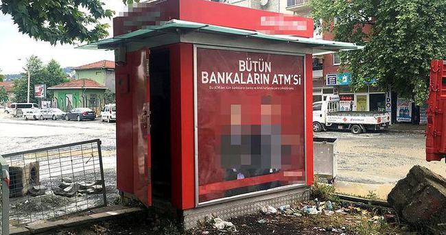 ATM'ye para yükledikten sonra kapısını açık unuttular