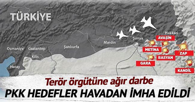 PKK'nın hedefleri havadan imha edildi