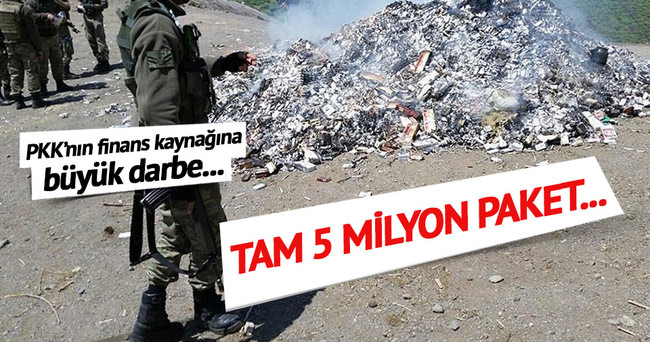 Terör örgütü PKK'nın finans kaynağına darbe