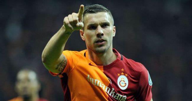 Galatasaray'ın gol yükünü Podolski çekti