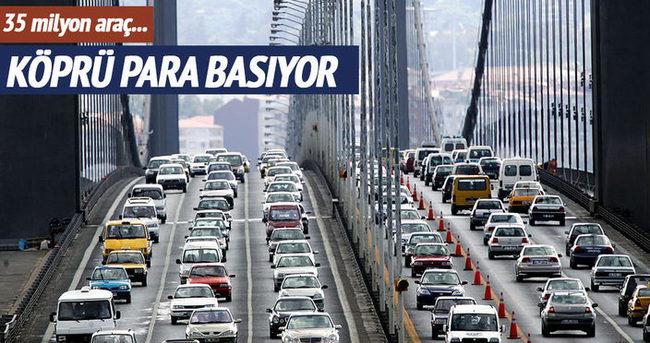 Köprü ve otoyollardan 108 milyon TL gelir