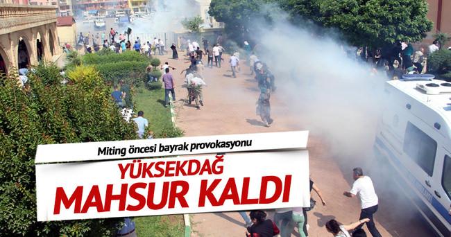 HDP mitingi öncesinde olaylar çıktı! Yüksekdağ belediye binasında mahsur kaldı