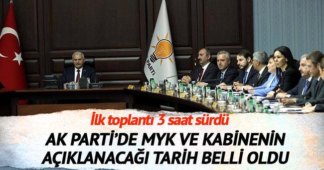 AK Parti'de MYK ve kabine yarın açıklanıyor
