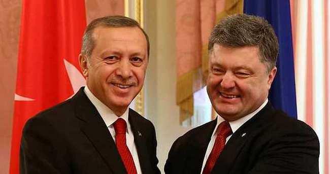 Cumhurbaşkanı Erdoğan, Petro Poroşenko ile görüştü