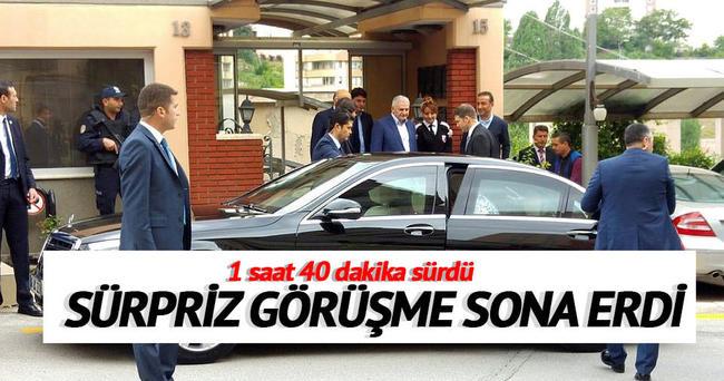 Binali Yıldırım'dan Davutoğlu'na ziyaret!