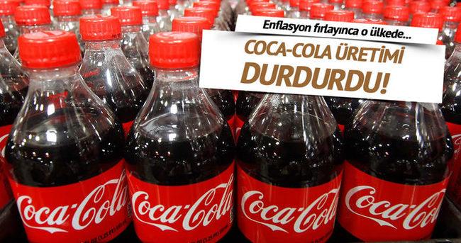 Coca-Cola Venezuela'daki şeker kıtlığı nedeniyle üretimi durdurdu
