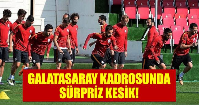 Galatasaray kadrosunda sürpriz kesik!