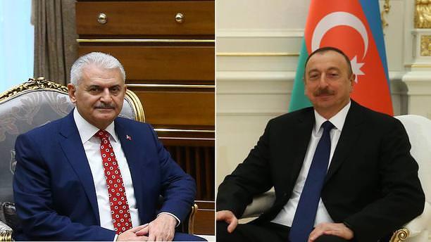 Aliyev'den Yıldırım'a tebrik telefonu!