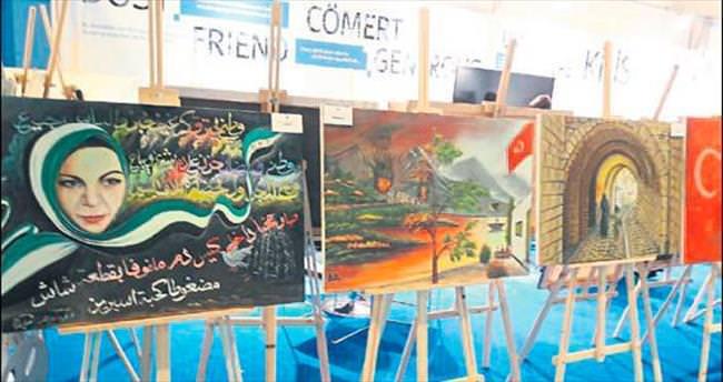 Suriyeli ressamlar acılarını tuvale döktü
