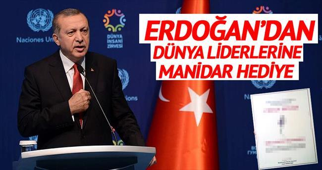 Erdoğan'dan liderlere hediye