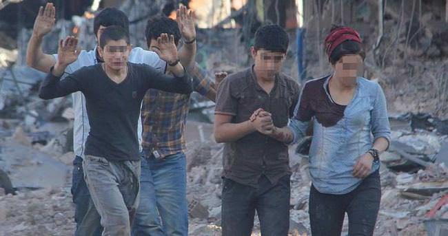 Nusaybin'de teslim olan 25 terörist emniyette