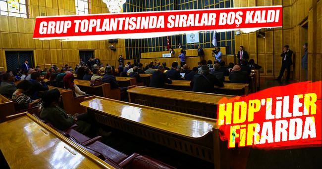 HDP grup toplantısında sıralar boş kaldı