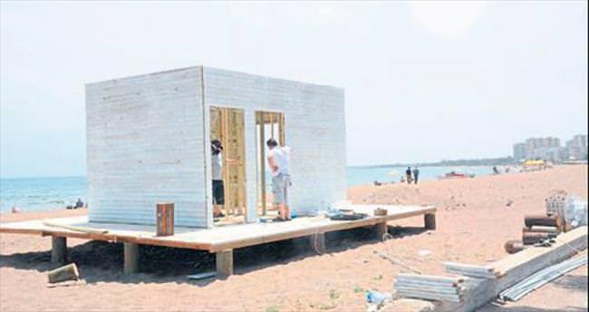 Mersin sahilleri yaza hazırlanıyor