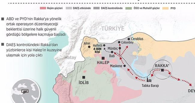 Rakka'dan 300 bin sivil kaçıyor