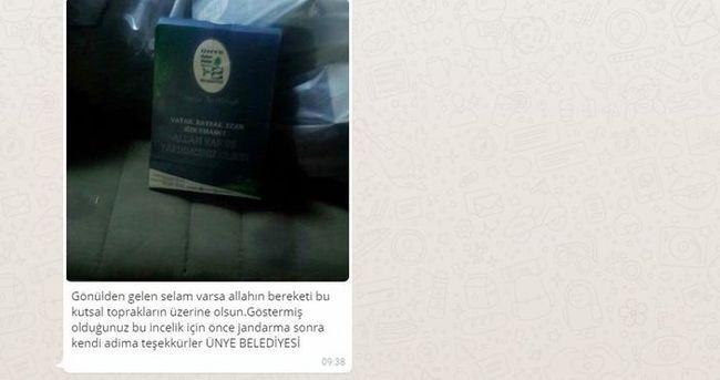Şırnak'taki askerlerden Ünye'ye teşekkür