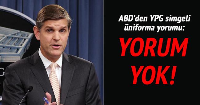 ABD'den YPG simgeli üniforma yorumu: Yorum yok!