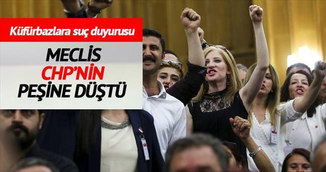 Meclis, CHP'nin peşine düştü