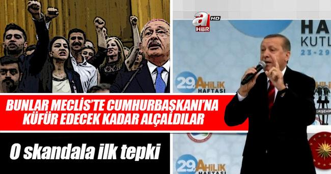 Cumhurbaşkanı Erdoğan: Cumhurbaşkanı'na küfür edecek kadar alçaklar