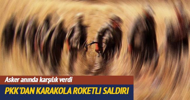 Bingöl'de PKK'dan karakola roketli saldırı