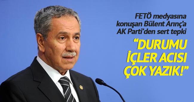FETÖ medyasına konuşan Bülent Arınç'a AK Parti'den sert tepki