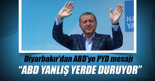 Cumhurbaşkanı Erdoğan: ABD'nin PYD'ye verdiği desteği kınıyorum