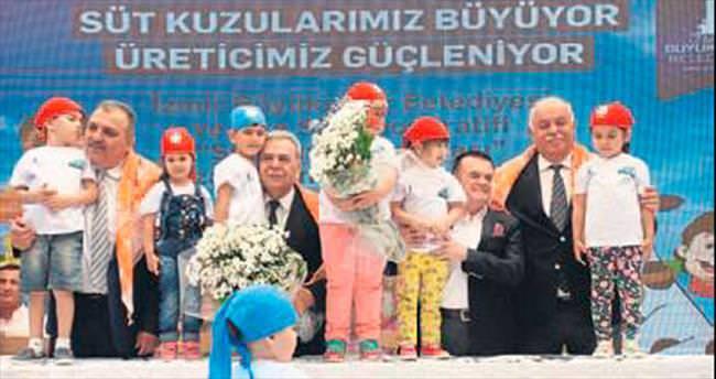 Süt Kuzusu projesi çocukları mutlu etti