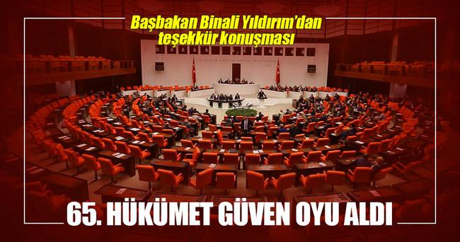 65. Hükümet güvenoyu aldı