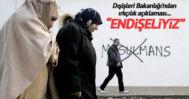 Dışişleri: Avrupa'da İslam karşıtlığından endişeliyiz