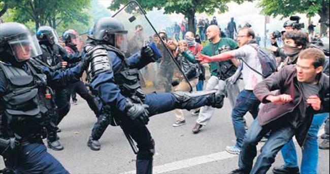 Fransa'da polis şiddeti gazeteciyi vurdu