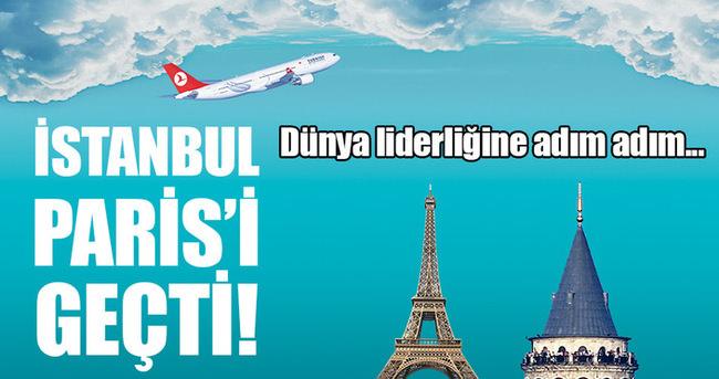 Transit uçuşta İstanbul, Paris'i geçti
