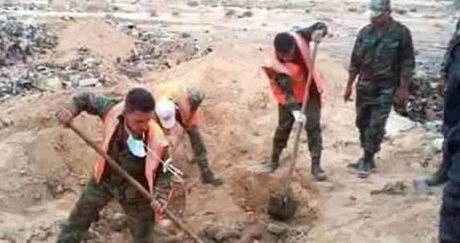 Palmira'da bulunan toplu mezarda 150 ceset bulundu