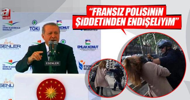 Erdoğan: Fransa'daki polis şiddetinden endişeliyim