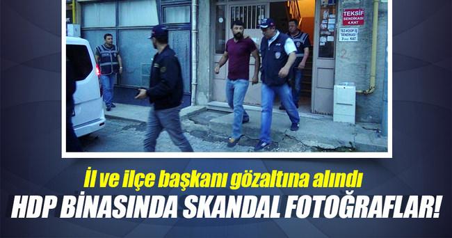 HDP binasında skandal fotoğraflar!