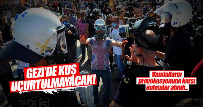Gezi Parkı'nda olası provokasyonlara karşı önlem alındı
