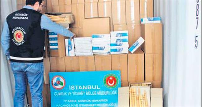 İstanbul gümrüklerinde kaçak sigaraya geçit yok
