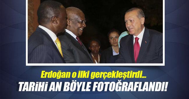Bir Türk Cumhurbaşkanı ilk kez Uganda'da
