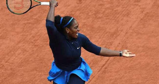 Roland Garros'ta Serena rüzgarı