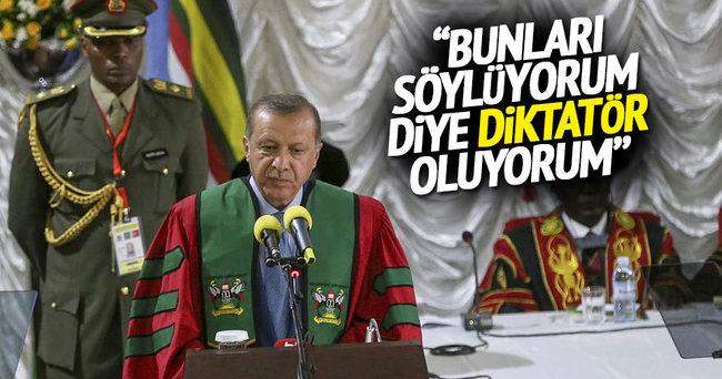 Cumhurbaşkanı Erdoğan Uganda'da konuştu