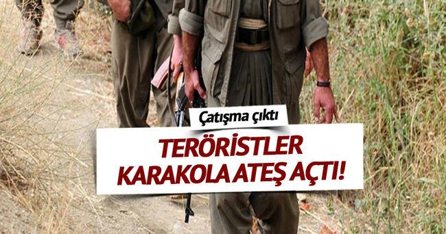 PKK'lı teröristler, jandarma karakoluna ateş açtı!