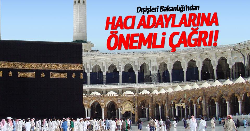 Hacı adaylarına bakanlıktan uyarı!