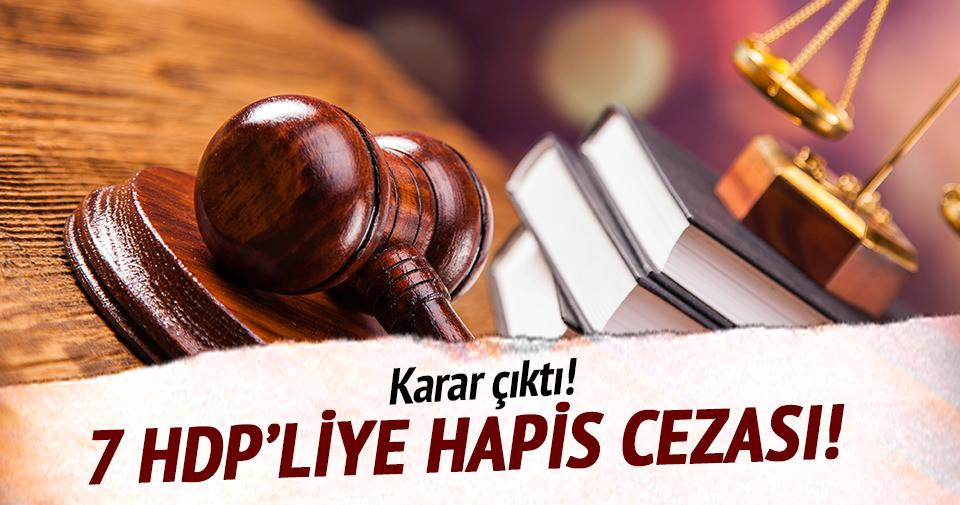 HDP'liler hapis cezasına çarptırıldı