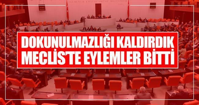 """""""Dokunulmazlığı kaldırdık Meclis'te eylemler bitti"""""""