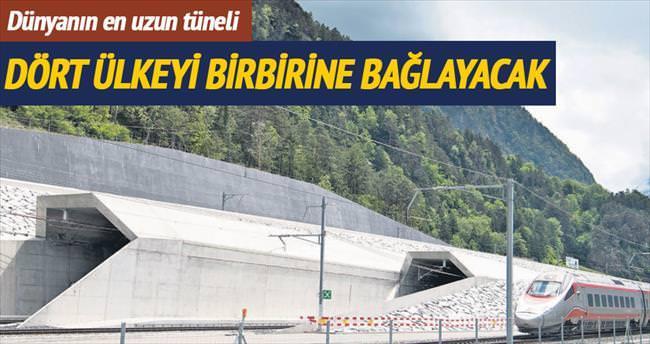 En uzun tünel törenle açıldı