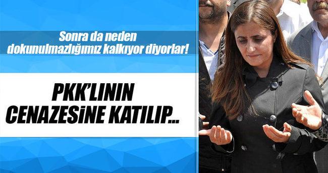 HDP'li vekil PKK'lının cenaze törenine katıldı!