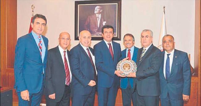 Başkanlardan Bakan Zeybekçi'ye ziyaret