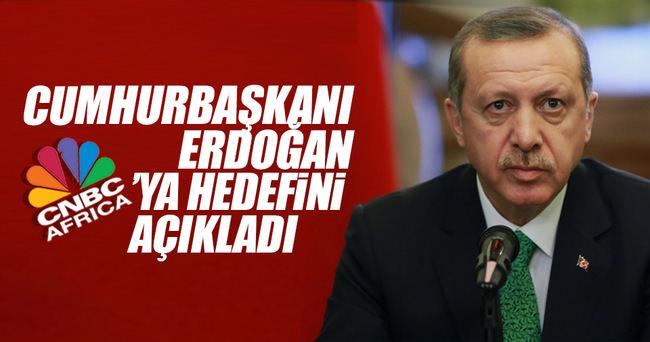 Cumhurbaşkanı Erdoğan, CNBC-E Afrika'ya konuştu