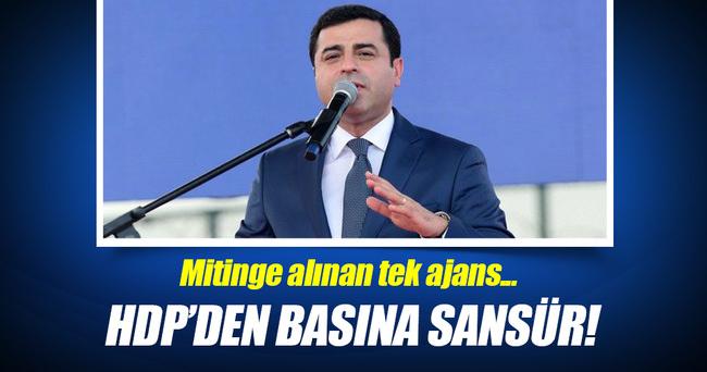 HDP mitinginde basına sansür!