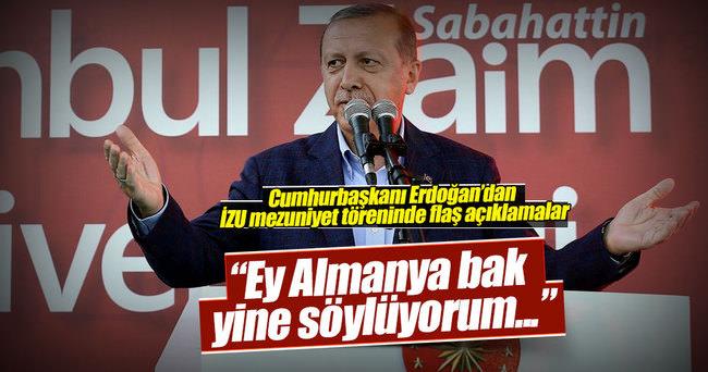 Cumhurbaşkanı Erdoğan: Önce Holoskost'un hesabını ver