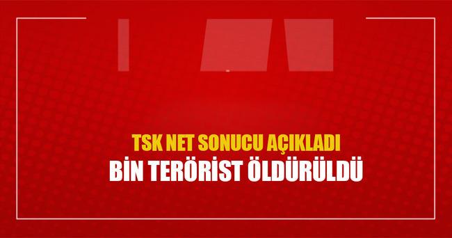 TSK: Bin terörist öldürüldü